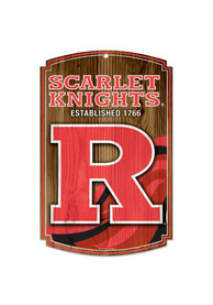 Rutgers Scarlet Knights 11x17 Wood Sign