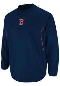 Boston Red Sox Base Tech Crew Sweatshirt - Navy Blue
