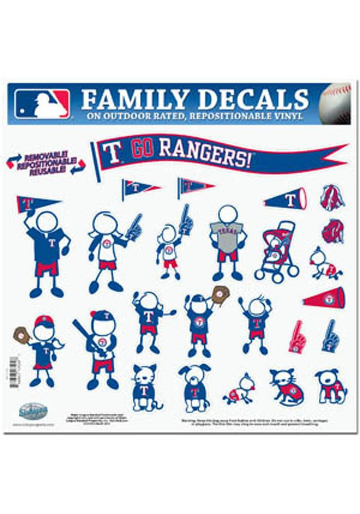 Texas Rangers DECAL Auto Decal - Blue - Image 1