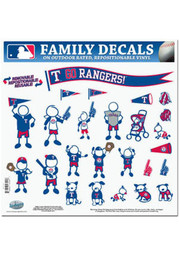 Texas Rangers DECAL Auto Decal - Blue