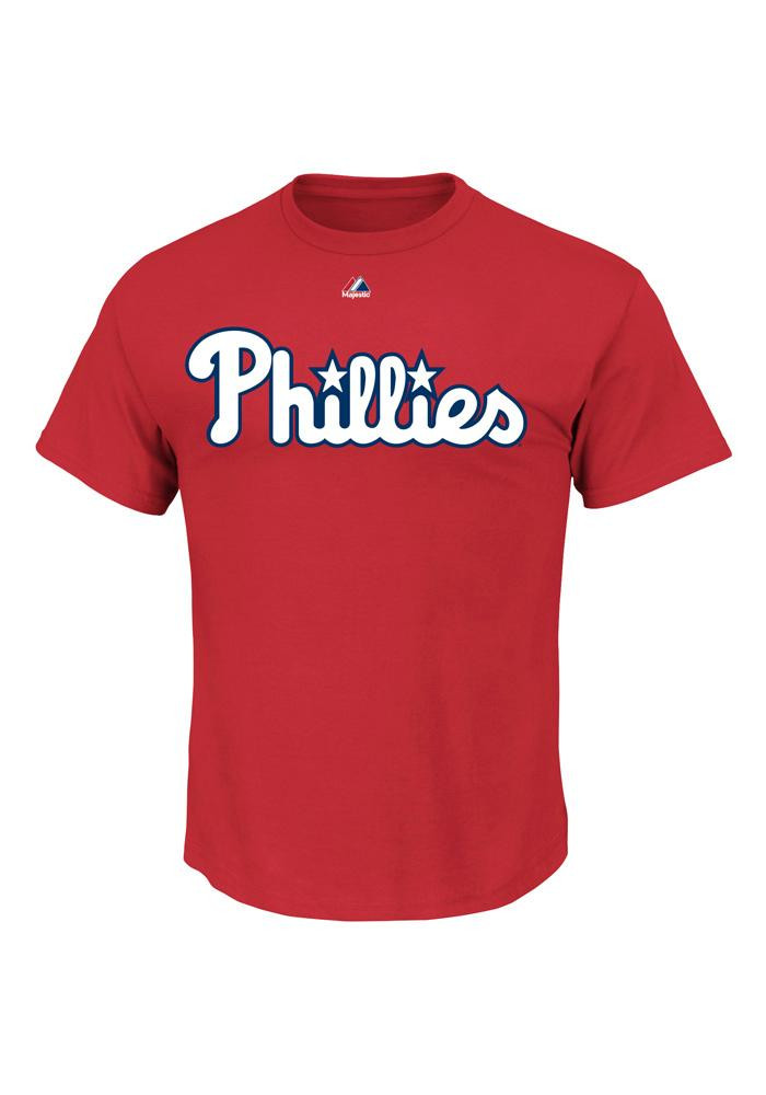 Cliff Lee Philadelphia Phillies Mens Red Name And Number Short Sleeve Player T Shirt - Image 3
