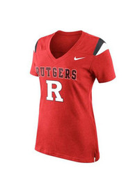 Nike Rutgers Scarlet Knights Womens Red Fan V-Neck