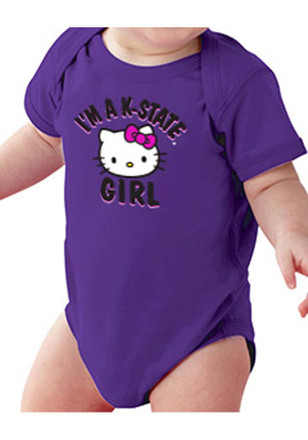 K-State Wildcats Baby Purple Just A Girl Creeper