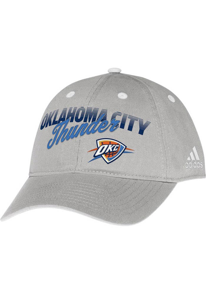 Adidas Oklahoma City Thunder Grey Slouch Womens Adjustable Hat - Image 1