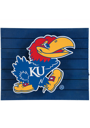 Kansas Jayhawks Team Logo Sign