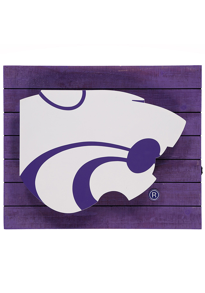 K-State Wildcats Team Logo Sign - Image 1