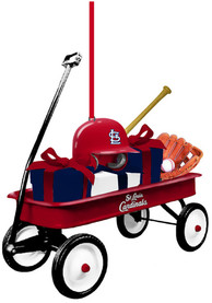 St Louis Cardinals Team Gift Wagon Ornament