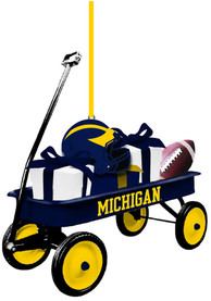 Michigan Wolverines Team Gift Wagon Ornament