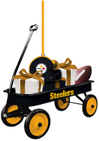 Pittsburgh Steelers Team Gift Wagon Ornament