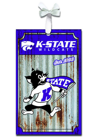 K-State Wildcats Corrugated Metal Team Ornament