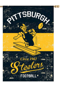 Pittsburgh Steelers 28x40 Vintage Linen Banner