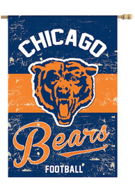 Chicago Bears Vintage Linen Garden Flag
