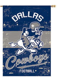 Dallas Cowboys Vintage Linen Garden Flag