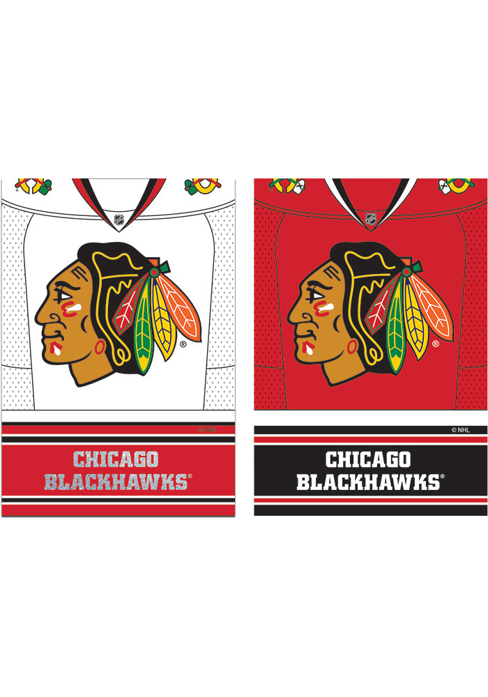 Chicago Blackhawks Jersey Garden Flag - Image 1