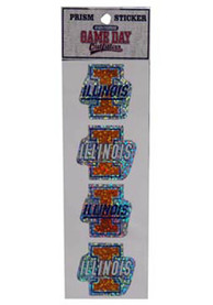 Illinois Fighting Illini STICKERS Stickers