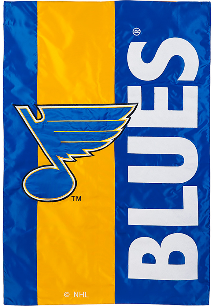 St Louis Blues Mixed Material Garden Flag - Image 1