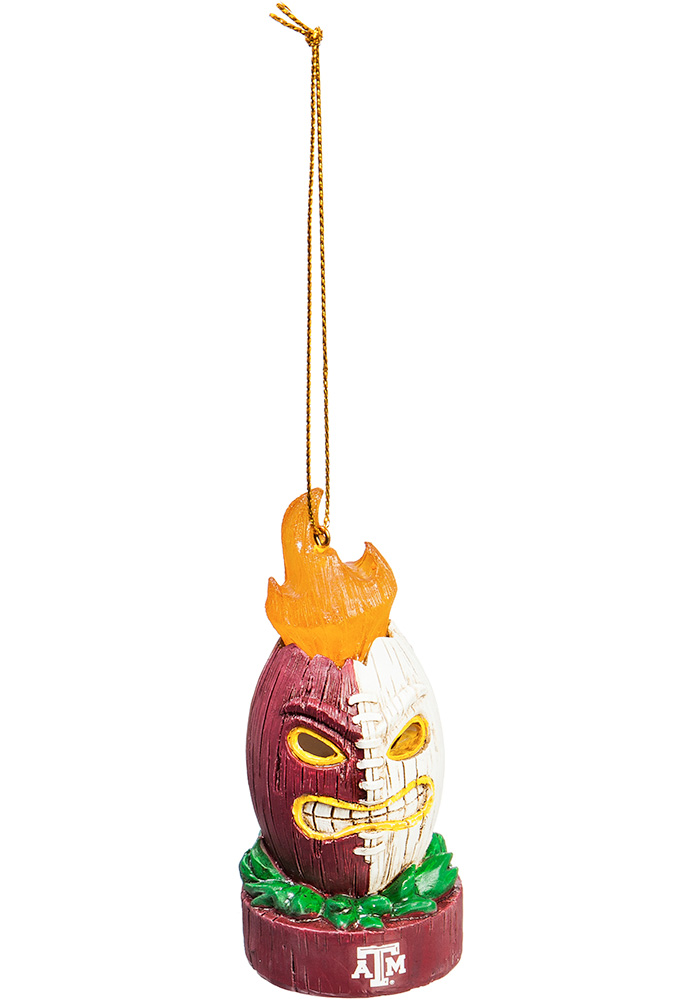 Texas A&M Aggies Lit Tiki Ornament - Image 1