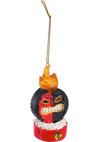 Chicago Blackhawks Lit Tiki Ornament