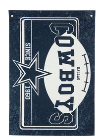 Dallas Cowboys 3x5 ft Linen Estate Navy Blue Silk Screen Grommet Flag