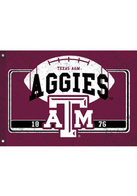 Texas A&M Aggies 3x5 ft Linen Estate Maroon Silk Screen Grommet Flag