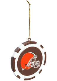 Cleveland Browns Poker Chip Ornament