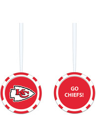 Kansas City Chiefs Poker Chip Ornament