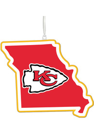 Kansas City Chiefs State Ornament