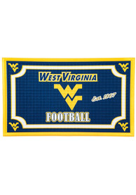West Virginia Mountaineers Embossed Door Mat