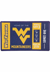 West Virginia Mountaineers Turf Trapper Door Mat