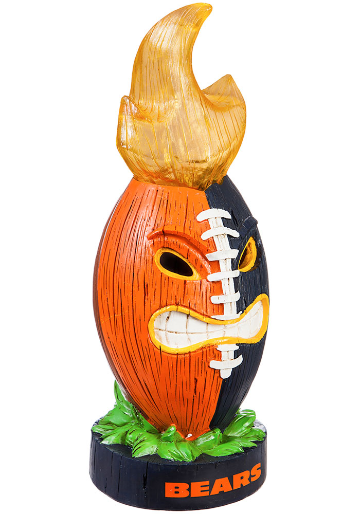 Chicago Bears Lit Ball Statue Gnome - Image 1