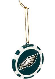 Philadelphia Eagles Poker Chip Ornament