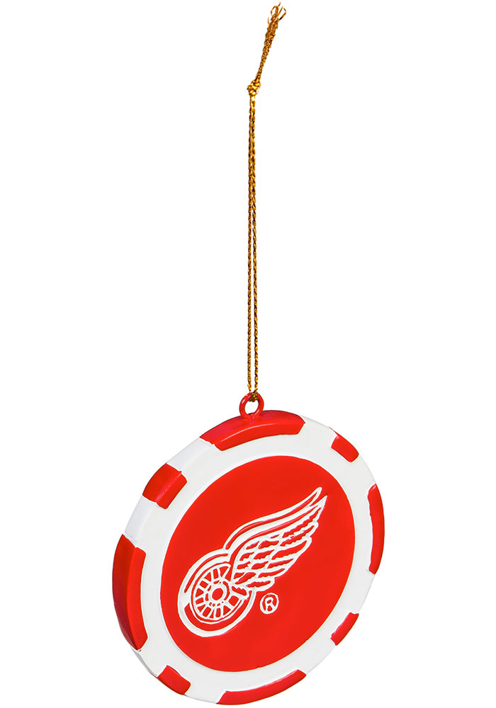 Detroit Red Wings Poker Chip Ornament