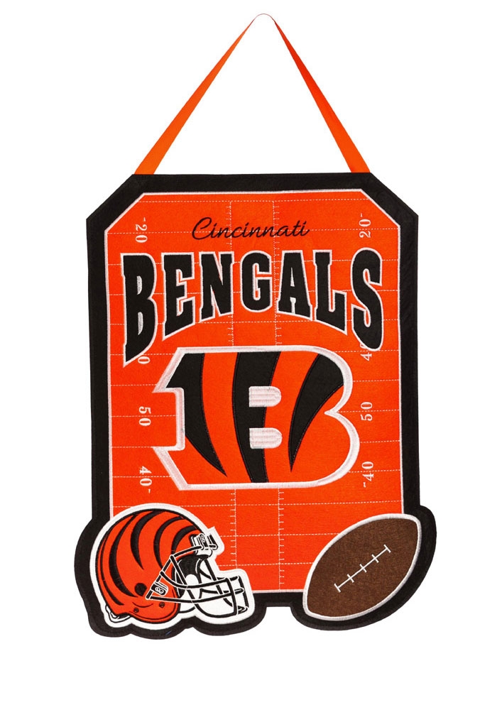 Cincinnati Bengals Felt Door Decor Banner