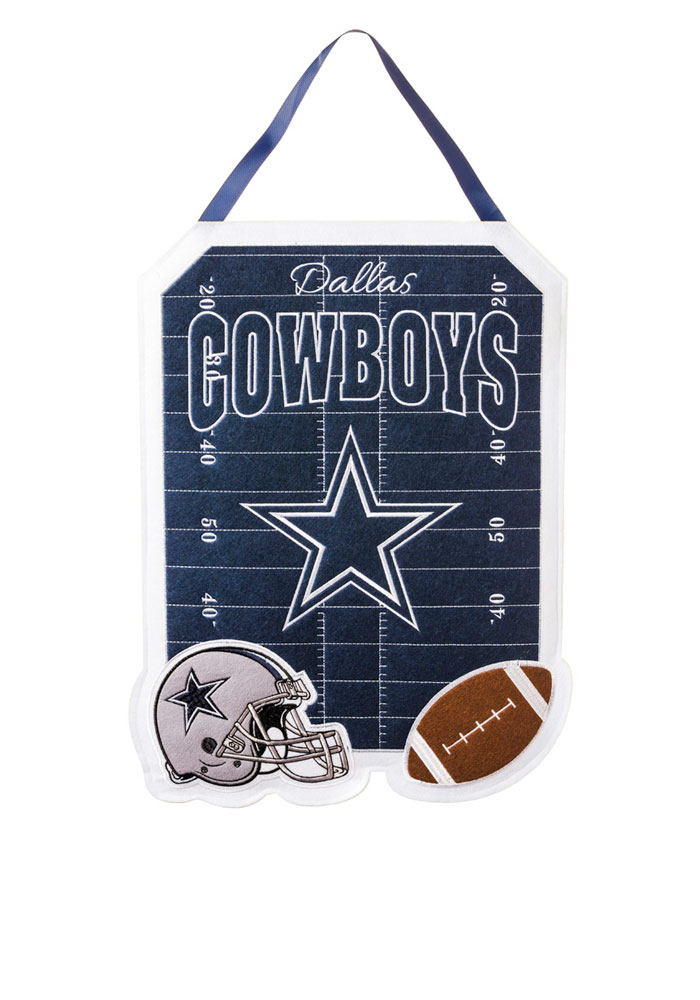 Dallas Cowboys Felt Door Decor Banner - Image 1