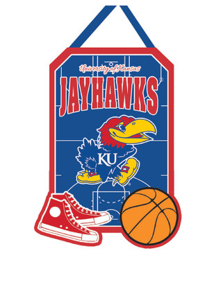 Kansas Jayhawks Felt Door Decor Banner