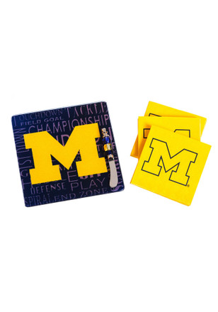 Michigan Wolverines It's a Party Gift Set Trivet