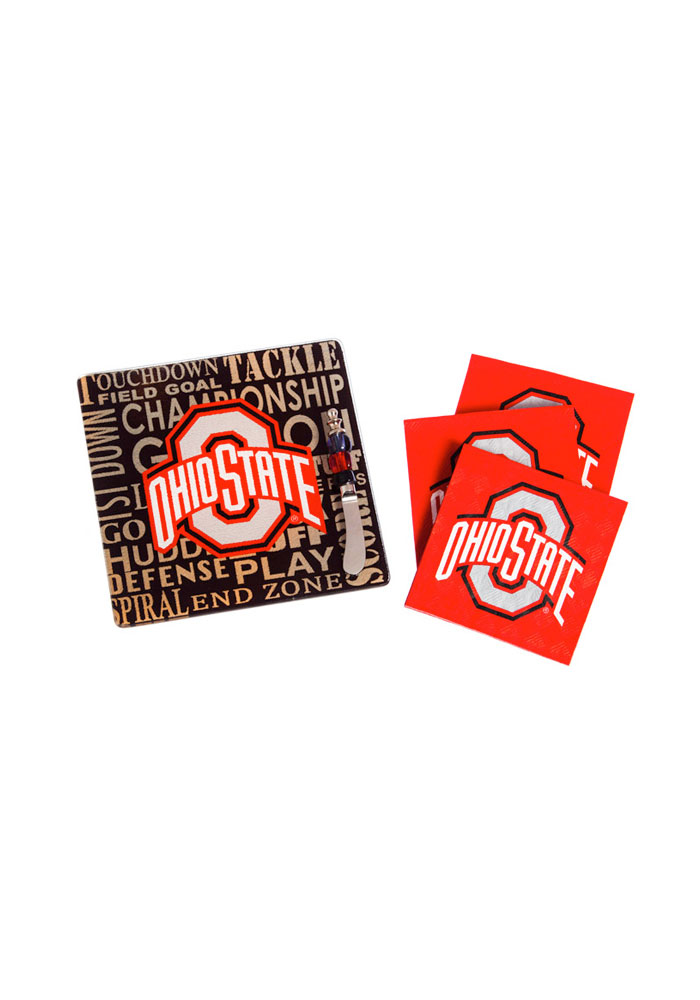 Ohio State Buckeyes It's a Party Gift Set Trivet - Image 1