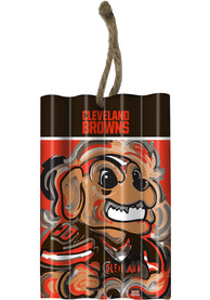 Cleveland Browns Corrugate Metal Ornament