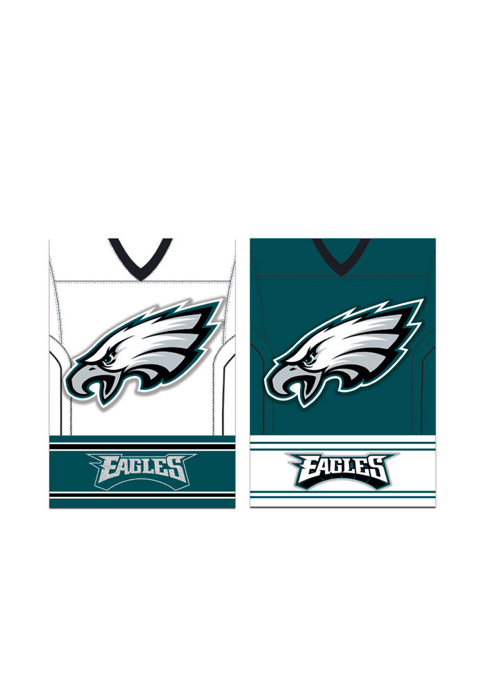 Philadelphia Eagles 29x43 Home/Away Jersey Embellished Banner - Image 1