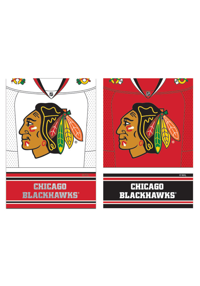 Chicago Blackhawks 29x43 Home/Away Jersey Embellished Banner