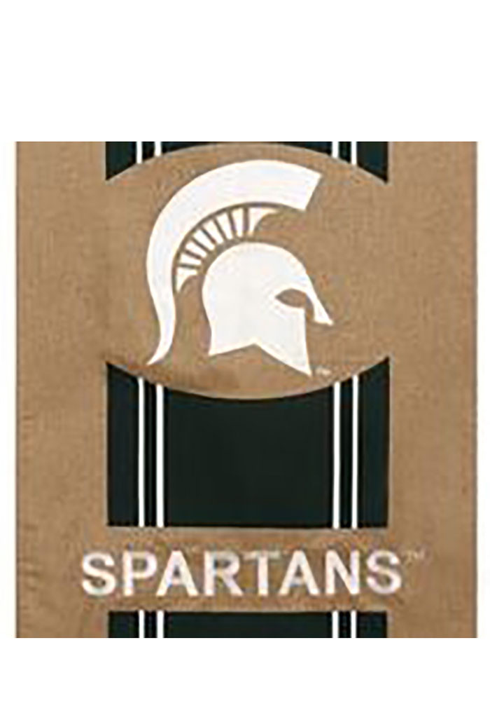 Michigan State Spartans 29x43 Team Burlap Banner - Image 1