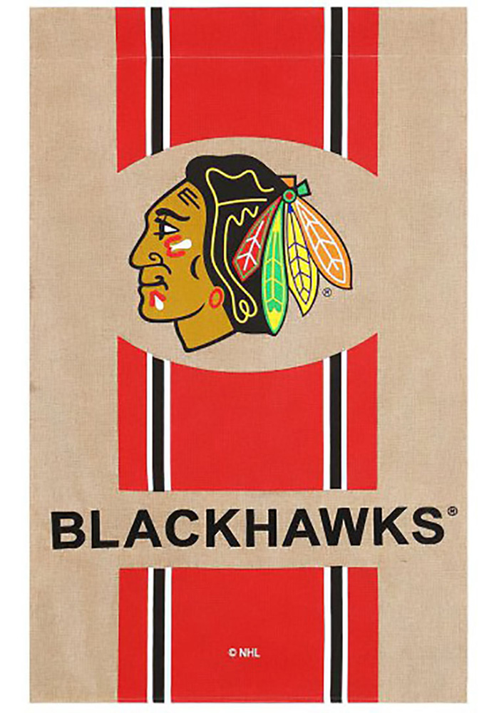 Chicago Blackhawks 29x43 Team Burlap Banner - Image 1