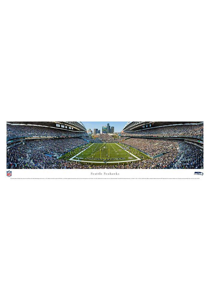 Seattle Seahawks End Zone Panorama Unframed Poster - Image 1