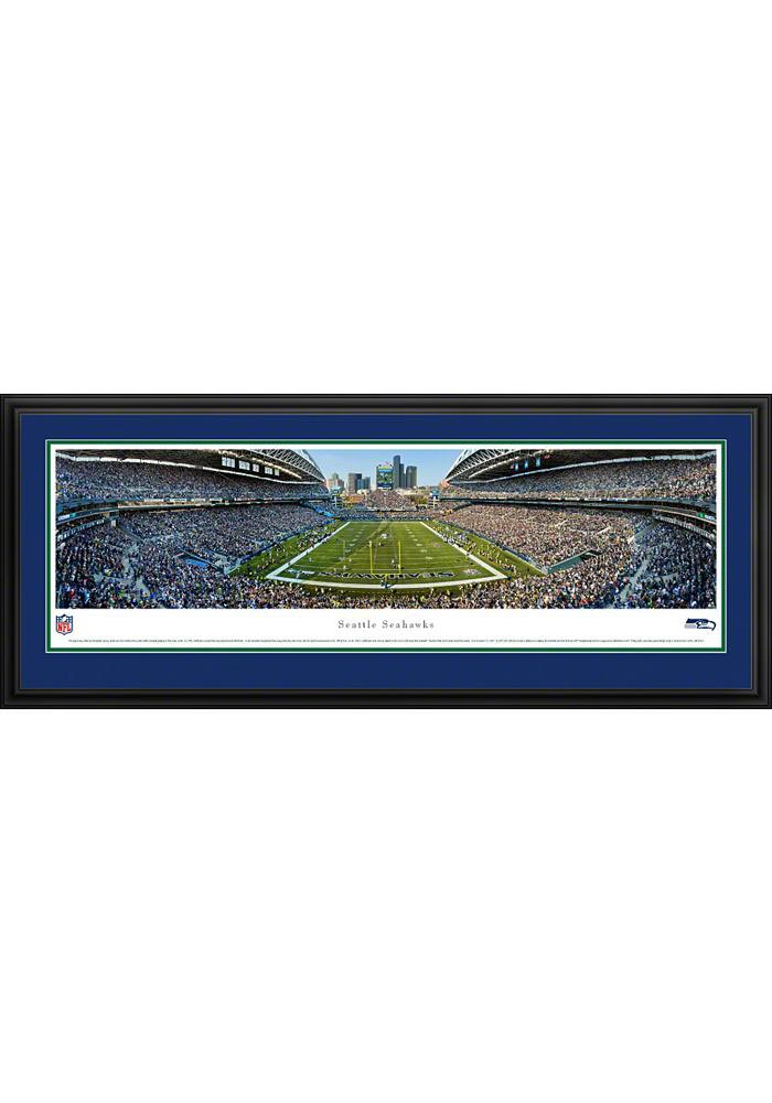 Seattle Seahawks Football Panorama Deluxe Framed Posters - Image 1