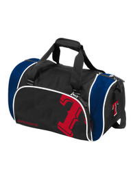 Texas Rangers Black Locker Duffel Gym Bag