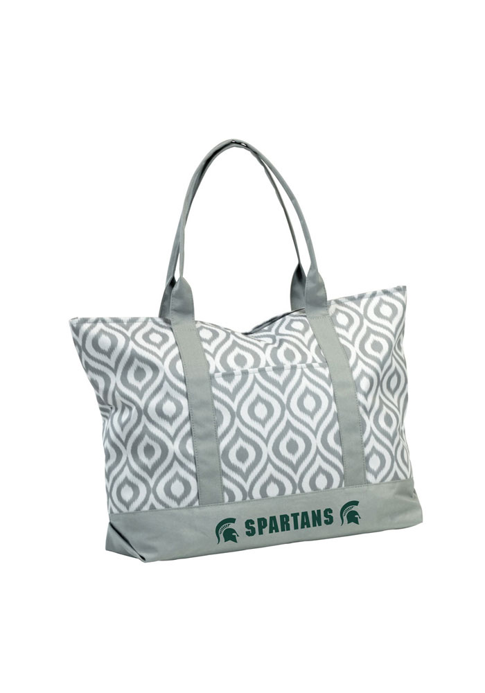Michigan State Spartans Green Ikat Tote - Image 1