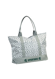 Michigan State Spartans Green Ikat Tote