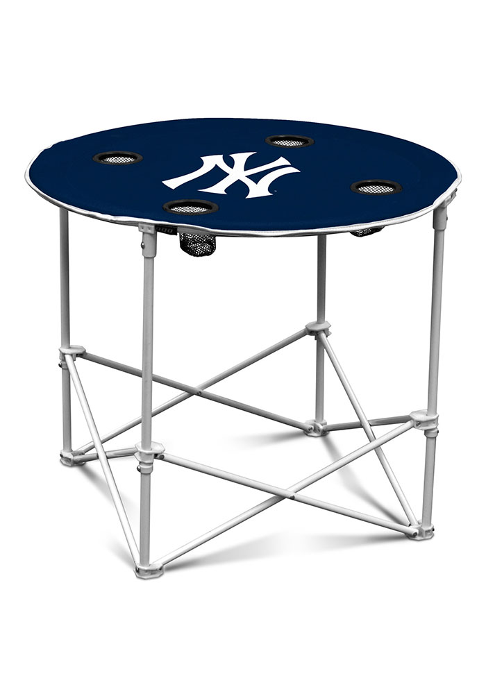 New York Yankees Round Tailgate Table - Image 1