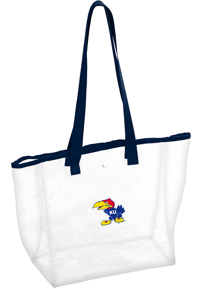 Kansas Jayhawks White Clear Clear Bag - Image 1