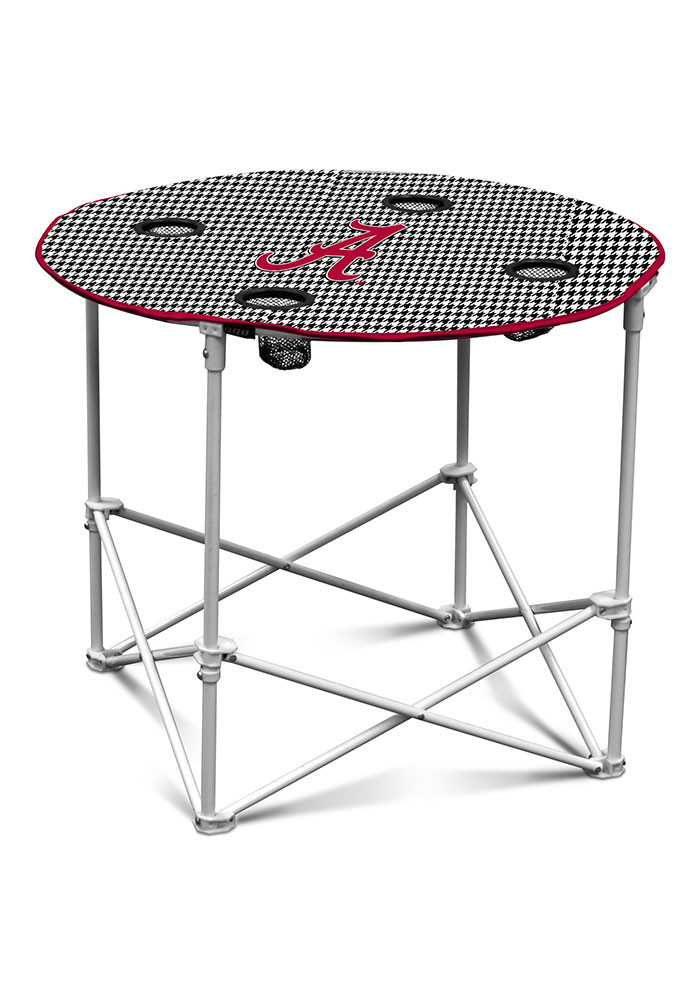 Alabama Crimson Tide Houndstooth Round Table - Image 1